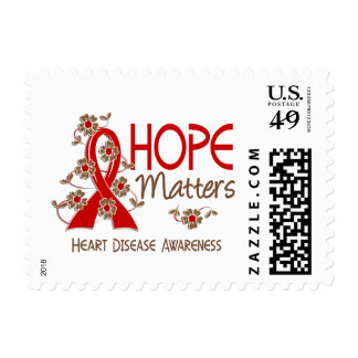 Hope Matters 3 Heart Disease Postage Stamps