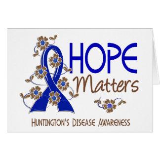 Hope Matters 3 Huntington's Disease Greeting Card