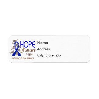 Hope Matters 3 Huntington's Disease Label