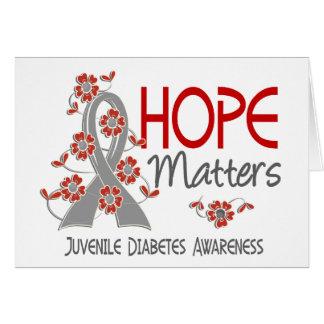 Hope Matters 3 Juvenile Diabetes Greeting Cards