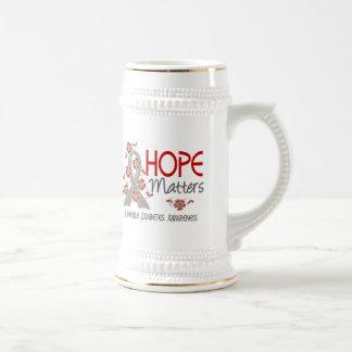 Hope Matters 3 Juvenile Diabetes 18 Oz Beer Stein