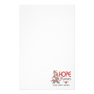 Hope Matters 3 Juvenile Diabetes Stationery Design