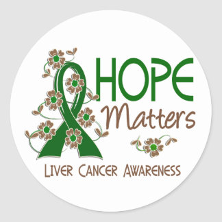 Hope Matters 3 Liver Cancer Stickers