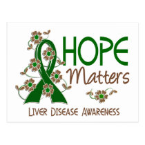 Hope Matters 3 Liver Disease Postcard