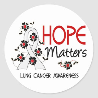 Hope Matters 3 Lung Cancer Round Stickers