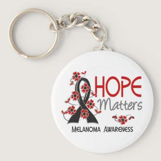 Hope Matters 3 Melanoma Keychain
