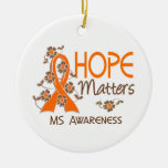 Hope Matters 3 MS Double-Sided Ceramic Round Christmas Ornament