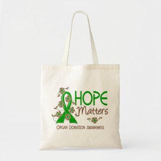 Hope Matters 3 Organ Donation Canvas Bag