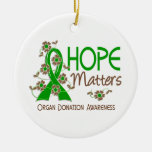 Hope Matters 3 Organ Donation Christmas Tree Ornaments