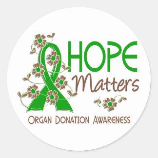 Hope Matters 3 Organ Donation Classic Round Sticker