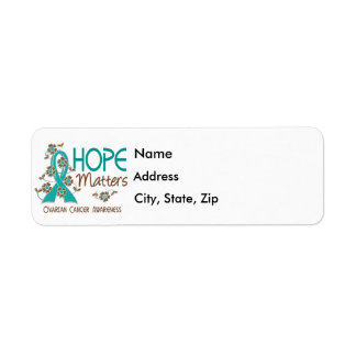 Hope Matters 3 Ovarian Cancer Label