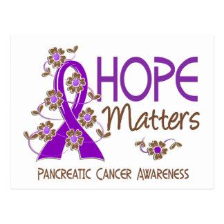 Hope Matters 3 Pancreatic Cancer Postcard