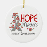 Hope Matters 3 Parkinson's Disease Double-Sided Ceramic Round Christmas Ornament