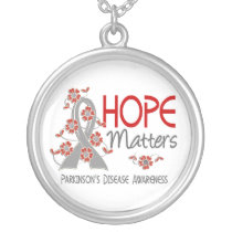 Hope Matters 3 Parkinson's Disease Silver Plated Necklace