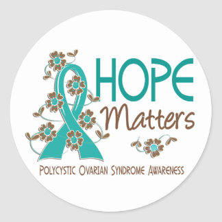 Hope Matters 3 PCOS Classic Round Sticker