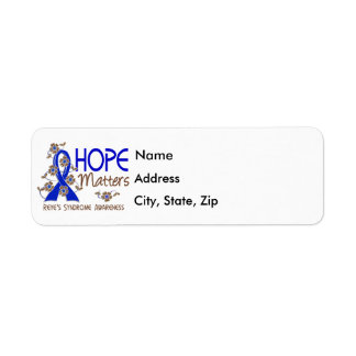 Hope Matters 3 Reye's Syndrome Label