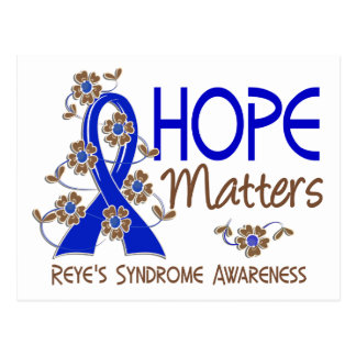 Hope Matters 3 Reye's Syndrome Postcard