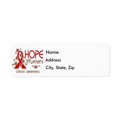 Hope Matters 3 Stroke Custom Return Address Labels