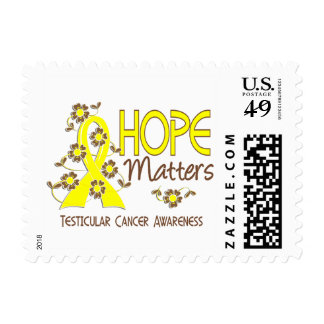 Hope Matters 3 Testicular Cancer Postage Stamp