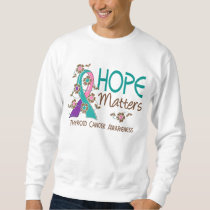 Hope Matters 3 Thyroid Cancer Sweatshirt