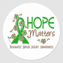 Hope Matters 3 Traumatic Brain Injury TBI Classic Round Sticker