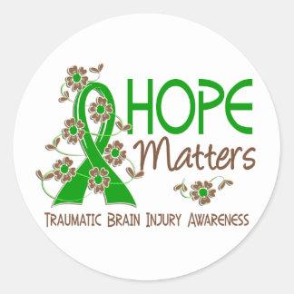 Hope Matters 3 Traumatic Brain Injury TBI Classic Round Sticker