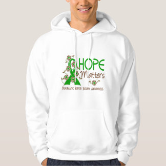 Hope Matters 3 Traumatic Brain Injury TBI Hooded Sweatshirt