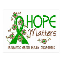 Hope Matters 3 Traumatic Brain Injury TBI Postcard