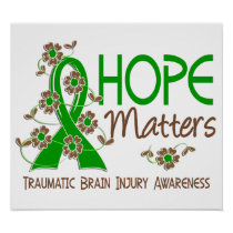 Hope Matters 3 Traumatic Brain Injury TBI Poster