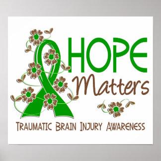 Hope Matters 3 Traumatic Brain Injury TBI Poster