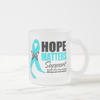 Hope Matters Addiction Recovery 10 Oz Frosted Glass Coffee Mug