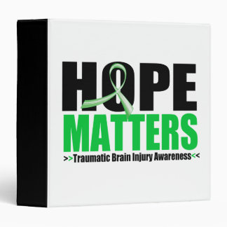 Hope Matters Brush Ribbon Traumatic Brain Injury Vinyl Binder