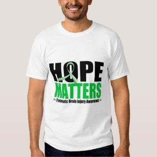 Hope Matters Brush Ribbon Traumatic Brain Injury Tee Shirt