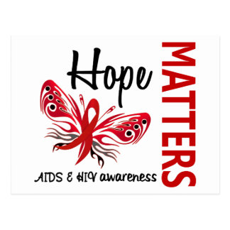 Hope Matters Butterfly AIDS Postcard