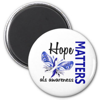 Hope Matters Butterfly ALS 2 Inch Round Magnet