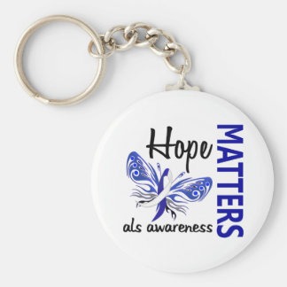 Hope Matters Butterfly ALS Keychain