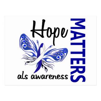 Hope Matters Butterfly ALS Postcard