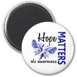 Hope Matters Butterfly ALS Refrigerator Magnet