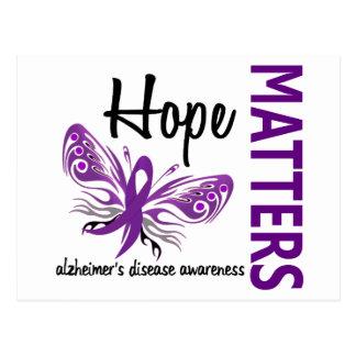 Hope Matters Butterfly Alzheimer's Disease Postcard