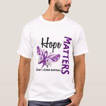 Hope Matters Butterfly Alzheimer's Disease T-Shirt