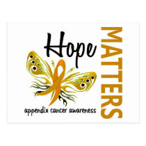 Hope Matters Butterfly Appendix Cancer Postcard
