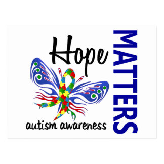 Hope Matters Butterfly Autism Postcard