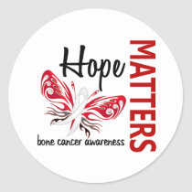 Hope Matters Butterfly Bone Cancer Classic Round Sticker