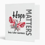 Hope Matters Butterfly Brain Tumor 3 Ring Binder