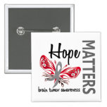 Hope Matters Butterfly Brain Tumor Button