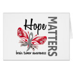 Hope Matters Butterfly Brain Tumor Greeting Card
