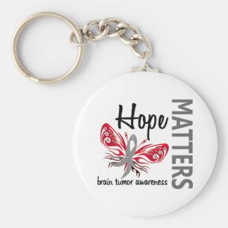 Hope Matters Butterfly Brain Tumor Keychain