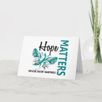 Hope Matters Butterfly Cervical Cancer Card