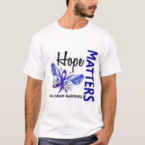 Hope Matters Butterfly Colon Cancer T-Shirt