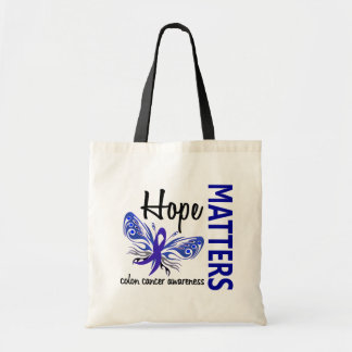 Hope Matters Butterfly Colon Cancer Tote Bag
